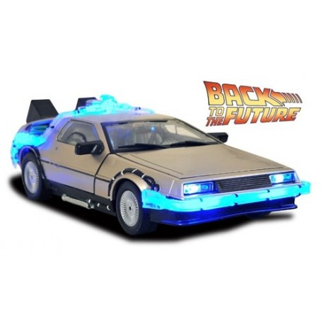 Replica Coche Delorean Regreso al Futuro 2 Con Luces y Sonidos Edicion 30 Aniversario Back To The Future II 33 cm
