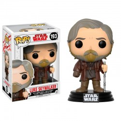 Figura Luke Skywalker de Star Wars The Last Jedi Episodio VIII Cabezon Pop Funko 9 cm