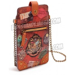 Bolso Mini Bandolera Porta Movil Harry Potter Vintage Hogwarts