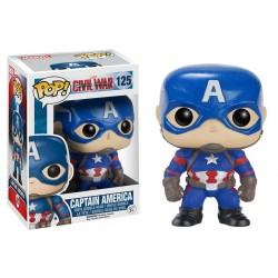 Figura Capitan America Civil War Pop Funko 10 cm