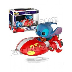 Figura Stitch Ride The Red One Exclusive de Lilo y Stitch Pop Funko 15 cm