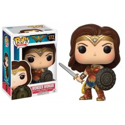 Figura Wonder Woman Shield and Sword de Wonder Woman Cabezon Pop Funko 10 cm