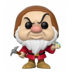 Figura Enanito Gruñon Grumpy with Diamond Pick de Blancanieves Cabezon Pop Funko 10 cm