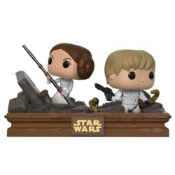 Pack Figuras Luke Skywalker y Princesa Leia Trash Compactor Escape Movie Moments Funko Pop