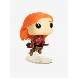 Figura Ginny Weasley con Escoba Broom de Harry Potter Cabezon Pop Funko 10 cm