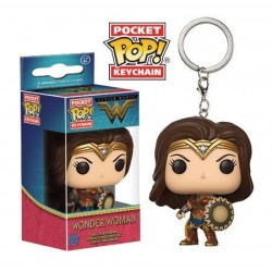 Llavero Wonder Woman with Shield de Wonder Woman Pop Funko Pocket