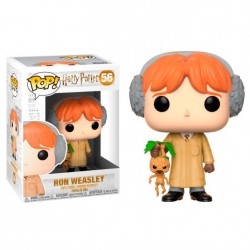 Figura Ron Herbology de Harry Potter Cabezon Pop Funko 10 cm