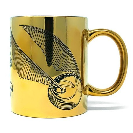 Taza Snitch Dorada Efecto Metalico de Harry Potter