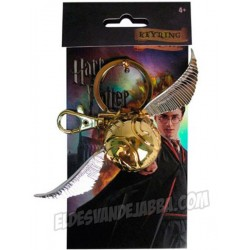 Llavero Snitch Dorada Doble Enganche