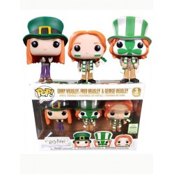 Figura Ginny Fred and George Weasly Pack Exclusive 2019 Spring Convention Harry Potter Funko Pop