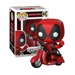 Figura Deadpool Scooter Marvel Cabezon Pop Funko 10 cm