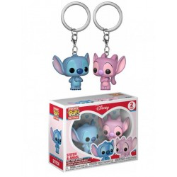 Pack Llaveros Stitch y Angel Pop Funko Pocket