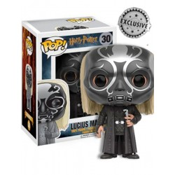 Figura Lucius Malfoy con Mascara Death Eater de Harry Potter Cabezon Pop Funko 9 cm
