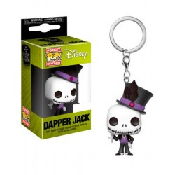 Llavero Jack Skellington Dapper Exclusive Pesadilla Antes de Navidad Funko Pop Pocket