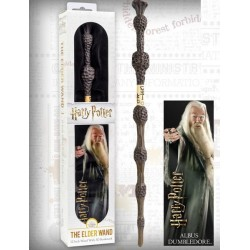 Varita Magica Albus Dumbledore + Marca Paginas Holografico Edicion Blister - Harry Potter NOBLE COLLECTION
