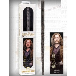 Varita Magica Sirius Black + Marca Paginas Holografico Edicion Blister - Harry Potter NOBLE COLLECTION