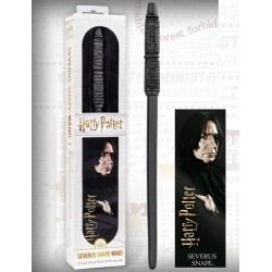 Varita Magica Severus Snape + Marca Paginas Holografico Edicion Blister - Harry Potter NOBLE COLLECTION