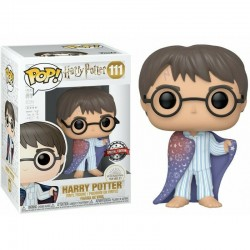 Figura Harry Potter Cloak Exclusivo de Harry Potter Cabezon Pop Funko 10 cm