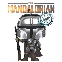 Figura The Mandalorian Chrome ECLUSIVO Star Wars Funko Pop