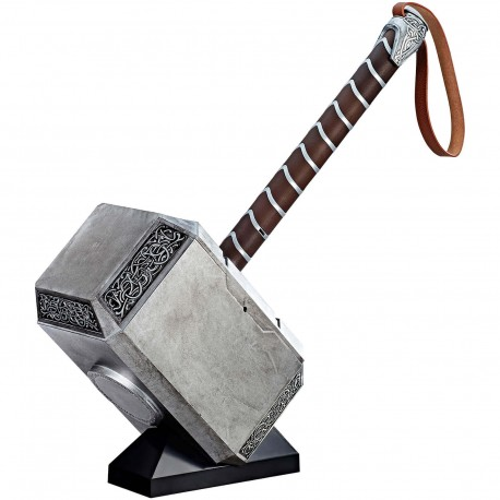 MARTILLO THOR MARVEL LEGENDS AVENGERS HASBRO ESCALA 1:1 CON SONIDO