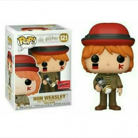 Figura Ron At World Cup EXCLUSIVE NYCC 2020 de Harry Potter Cabezon Pop Funko 10 cm