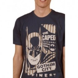 Camiseta Batman Vintage Stripes Navy
