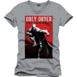 Camiseta Batman Arkham City Obey Survive Gris