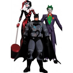 Pack de 3 Figuras Batman Hush: Stealth Batman, Joker y Harley Quinn 17 cm - DC Collectibles