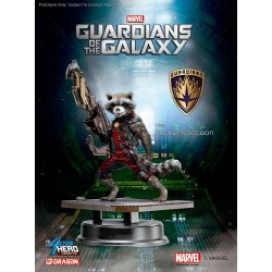 Estatua Guardianes de la Galaxia - Guardians of the Galaxy Rocket Raccoon Red Suit Ver. Action Hero Vignette 18 cm