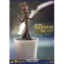 Figura Baby Groot Dancing Maceta Guardianes de la Galaxia - Guardians of the Galaxy 12 cm - HOT TOYS