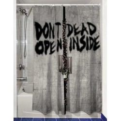Cortina de Ducha The Walking Dead Dont Open Dead Inside 180 x 180