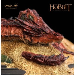 Estatua Smaug King Under The Mountain El Hobbit La Desolacion de Smaug Weta Collectibles