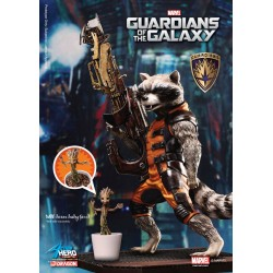 Estatua Guardianes de la Galaxia - Guardians of the Galaxy Rocket Raccoon y Baby Groot Action Hero Vignette 18 cm